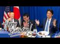 【視点・論点】トランプ大統領「ハッピーバースデー、シンゾー」安倍首相63歳の誕生日をサプライズ演出!